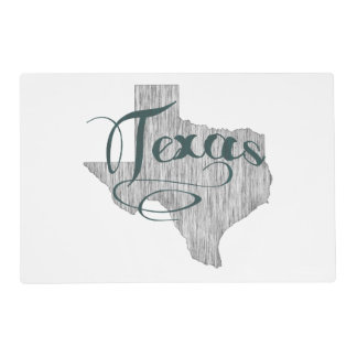 Texas State Typography Placemat