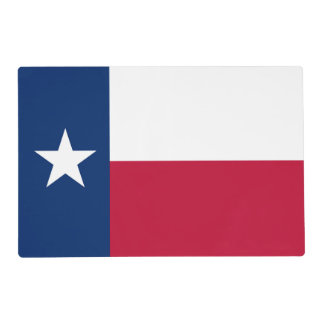 Texas state & USA flag one flag on each side Placemat