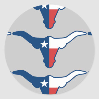 Texas steer classic round sticker