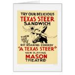 Texas Steer Sandwich 1938 WPA