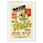 Texas Steer Sandwich 1938 WPA Card