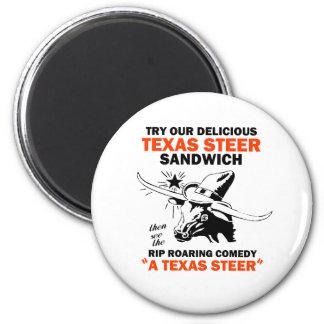 Texas Steer Sandwich Fridge Magnet