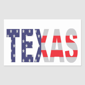 Texas Rectangle Stickers
