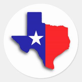 texas round sticker