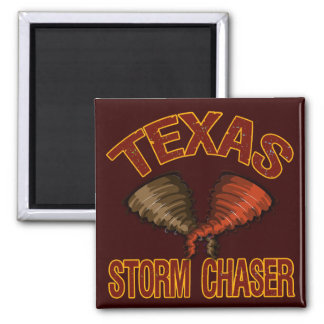 Texas Storm Chaser 2 Inch Square Magnet