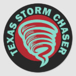 Texas Storm Chaser Classic Round Sticker