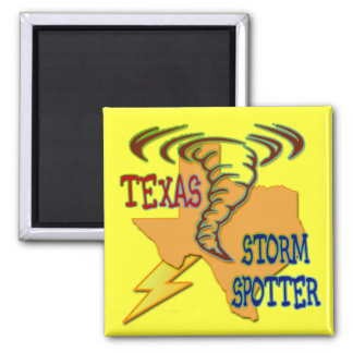 Texas Storm Spotter 2 Inch Square Magnet