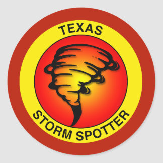 Texas Storm Spotter Classic Round Sticker