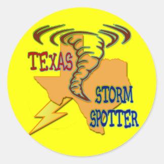 Texas Storm Spotter Classic Round Sticker