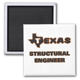 Texas Structural Engineer 2 Inch Square Magnet