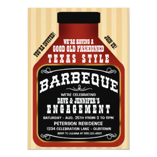 Texas Style BBQ Engagement Party Invitations