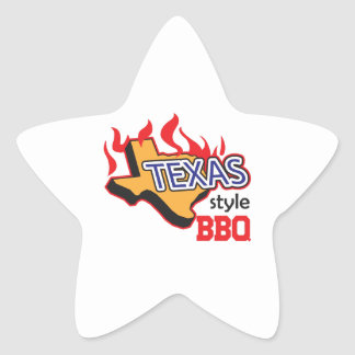 TEXAS STYLE BBQ STAR STICKER