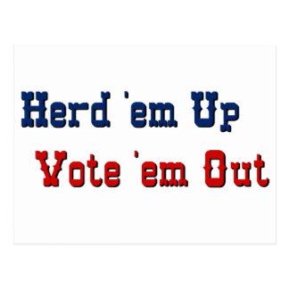 Texas style politics postcard