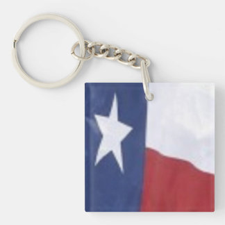 Texas Style: Square  keychain