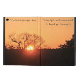 Texas Sunrise, Bible verse from Deuteronomy 31:6 Cover For iPad Air