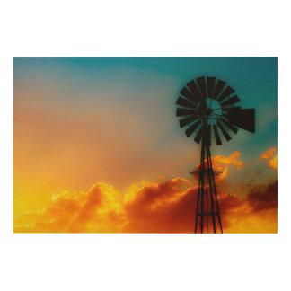 Texas Sunrise Wood Wall Art