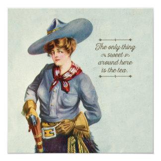 Texas Sweet Tea Vintage Cowgirl Card