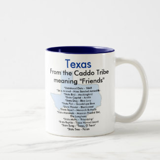 Texas Symbols & Map Two-Tone Coffee Mug