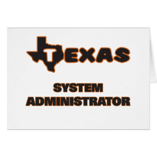 Texas System Administrator Stationery Note Card