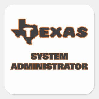 Texas System Administrator Square Sticker