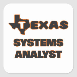 Texas Systems Analyst Square Sticker