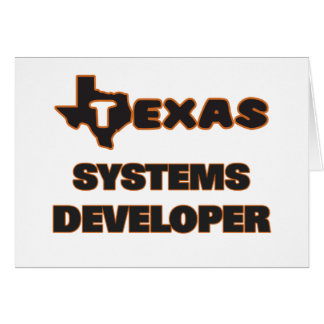 Texas Systems Developer Stationery Note Card