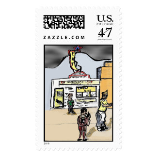 TEXAS TAVERN POSTAGE STAMPS