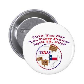 Texas Tax Day Tea Party Protest Button