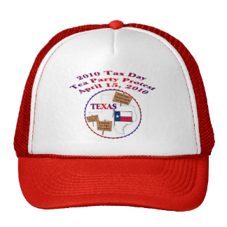 Texas Tax Day Tea Party Protest Mesh Hats