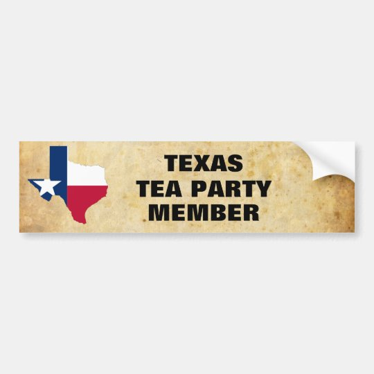 TEXAS TEA PARTY BUMPER STICKER
