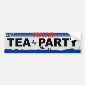 Texas Tea Party Car Bumper Sticker
