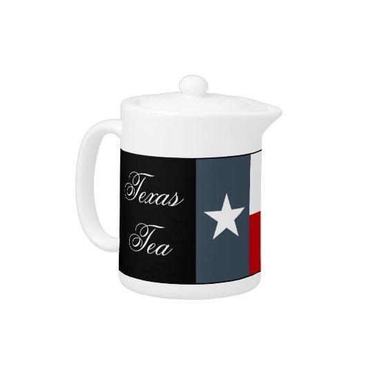 Texas Tea Teapot Lonestar State Flag Oil Country