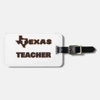 Texas Teacher Bag Tag