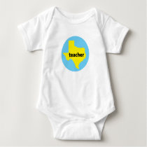 Texas Teacher Home State Back To School Gif Baby Bodysuit