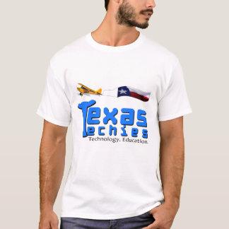 Texas Techies Logo and Plane T-Shirt