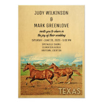 Texas Texas Wedding Invitation Horses