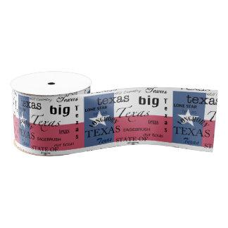 Texas Text Design-with Texas Flag Grosgrain Ribbon