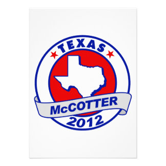 Texas Thad McCotter Custom Invitation