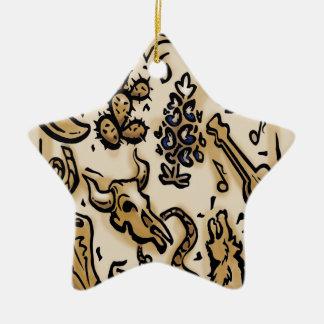 Texas Thang Ceramic Ornament