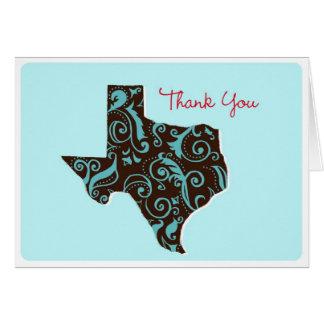Texas Thank You Card