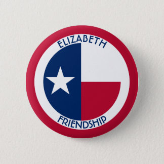 Texas The Lone Star Personalized Flag Button
