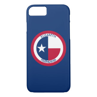 Texas The Lone Star Personalized Flag iPhone 7 Case
