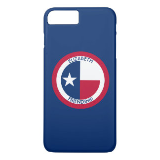 Texas The Lone Star Personalized Flag iPhone 7 Plus Case