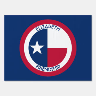 Texas The Lone Star Personalized Flag Sign