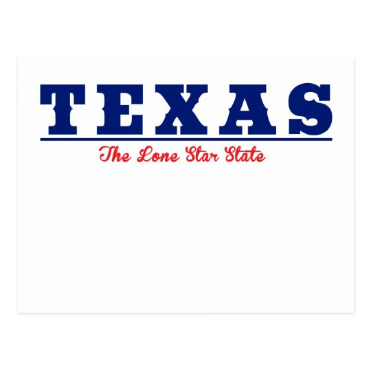 Texas - The Lone Star State Postcard