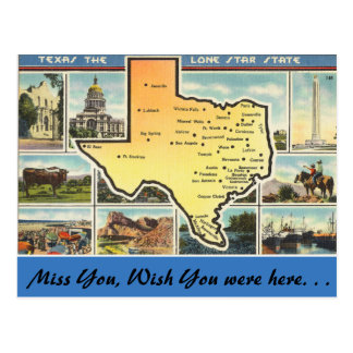 Texas, The Lone Star State Postcard