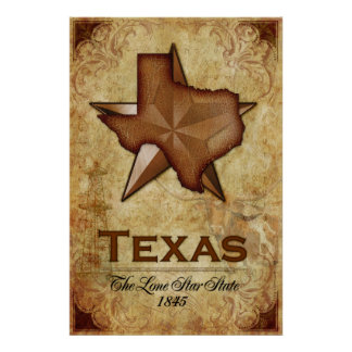 Texas - The Lone Star State Posters