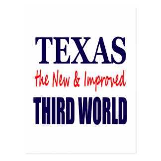 Texas the New & Improved THIRD WORLD Postcard