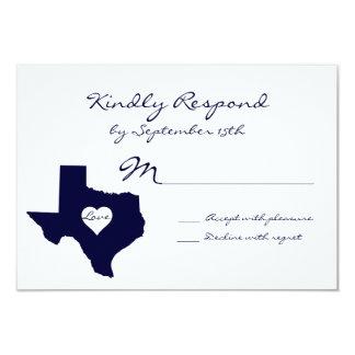 Texas Theme Navy Wedding RSVP Cards Custom Invitations