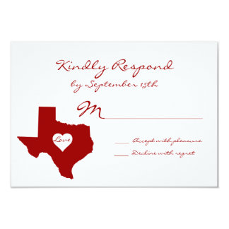 Texas Theme Red White Wedding RSVP Cards Announcements